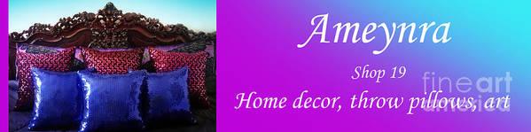 Ameynra Art Print featuring the digital art Ameynra Shop 19. Promo Banner 3 by Sofia Metal Queen