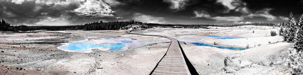 Geothermal Print featuring the photograph Lunar Boardwalk by Wendy White