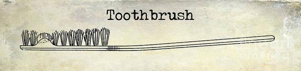 Toothbrush Art Print featuring the photograph The Toothbrush by Jon Neidert