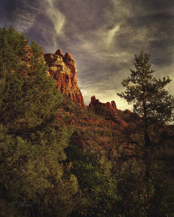 Landscape Art Prints Print featuring the photograph Another View Of Snoopy Rock by Robert Albrecht
