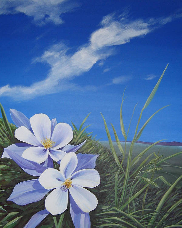 Landscape Art Print featuring the painting Afternoon High by Hunter Jay