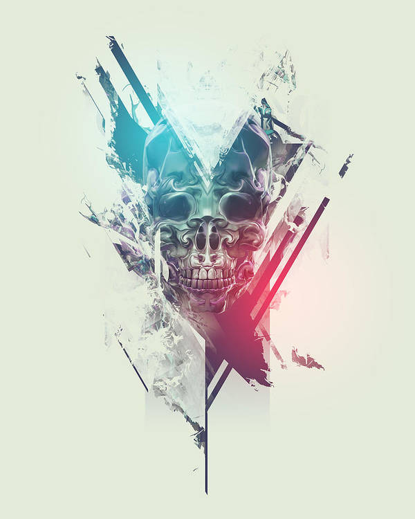 Skull Art Print featuring the digital art Finale by George Smith