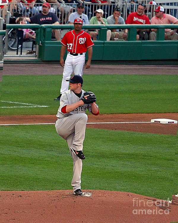 Jon Lester Photo Art Print featuring the photograph Jon Lester Poetry In Motion by Tom Prendergast