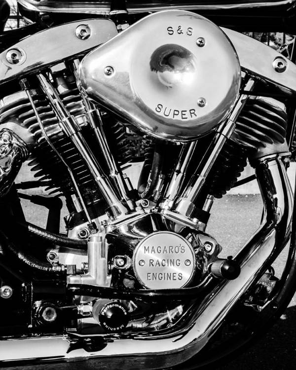 Motor Art Print featuring the photograph Racing Engine by Chet Dabrowski