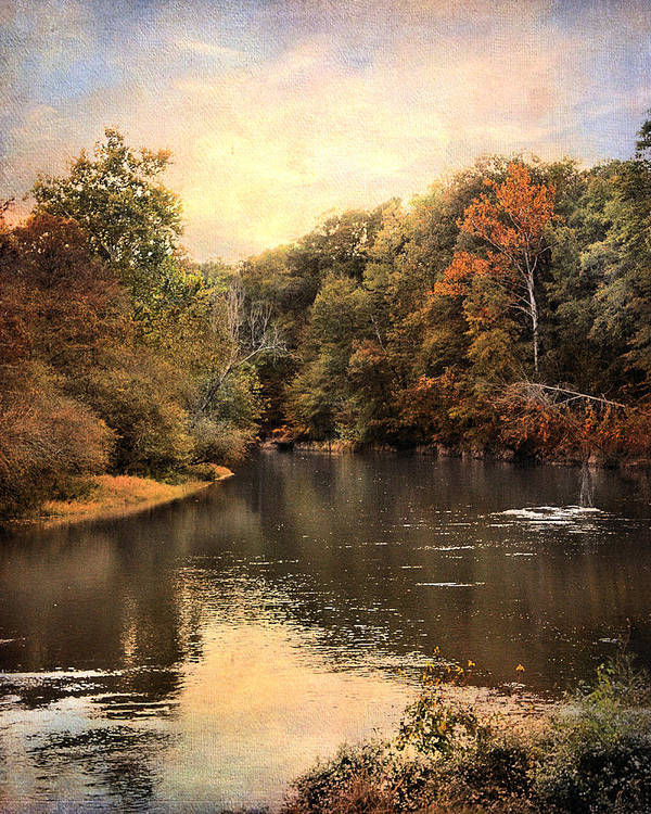 Autumn Art Print featuring the photograph Hatchie River by Jai Johnson
