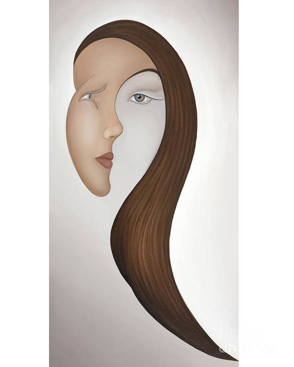 Sensual Art Print featuring the painting Insight by Joanna Pregon