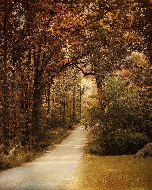 Autumn Print featuring the photograph Morning Walk by Jai Johnson