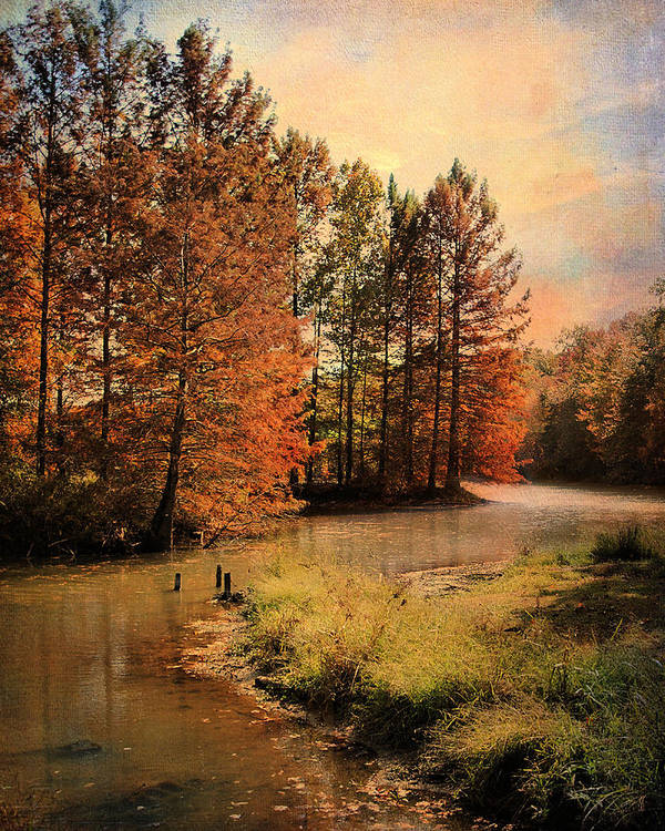 Autumn Art Print featuring the photograph River Of Hope by Jai Johnson