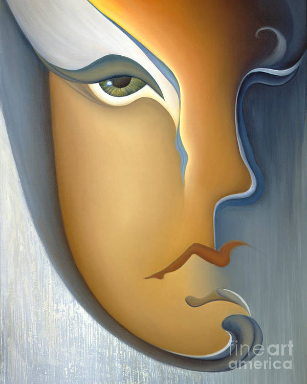 Sensual Art Print featuring the painting Speak No Evil by Joanna Pregon