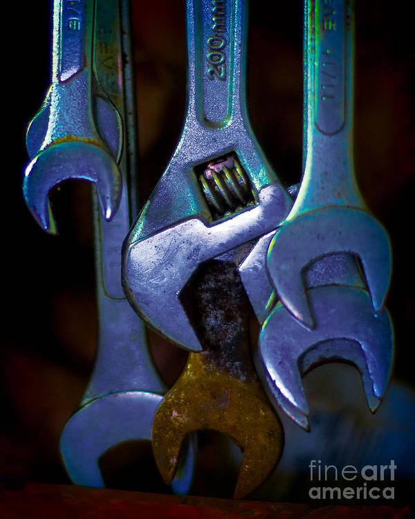 Wrenches Art Print featuring the photograph Wrenches by Corrie Zacharias