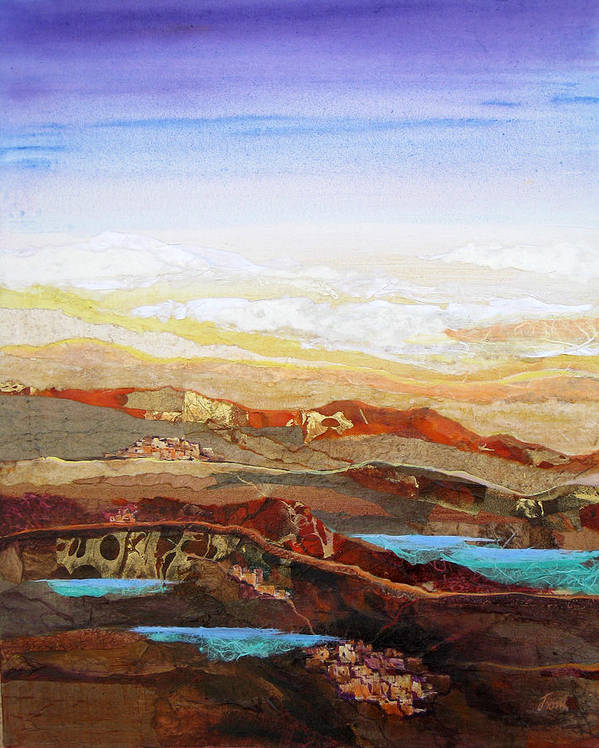 Mixed Media Art Print featuring the painting Arizona Reflections Number Two by Don Trout