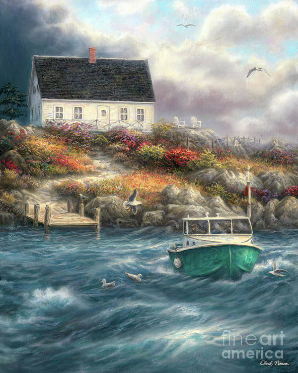 Cape Cod Art Print featuring the painting Cape Cod Afternoon by Chuck Pinson