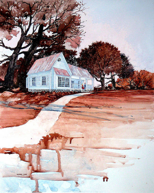 Love Art Print featuring the painting Country Court' N by Donn Kay