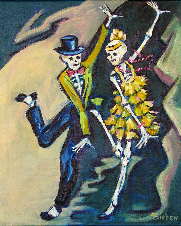 Dance Art Print featuring the painting Flappers by Sharon Sieben