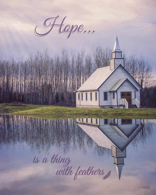 Hope Is A Thing With Feathers Art Print featuring the painting Hope Is A Thing With Feathers - Inspirational Art by Jordan Blackstone