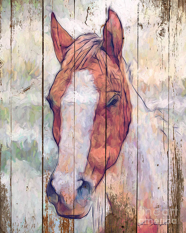 Horse Art Print featuring the digital art Horse 2 by Tim Wemple