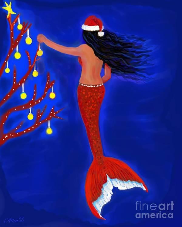 Mermaids Christmas Tree by Leslie Allen