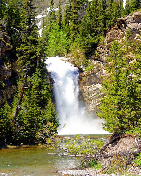 Waterfalls Art Print featuring the photograph Running Eagle Falls by Marty Koch