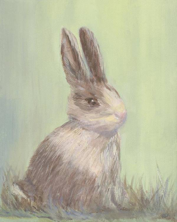 Rabbit Art Print featuring the painting Sweet Bun by Kimberly Hodge