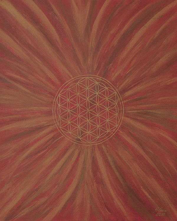 Flower Of Life Art Print featuring the painting The Activator by Silvia Flores