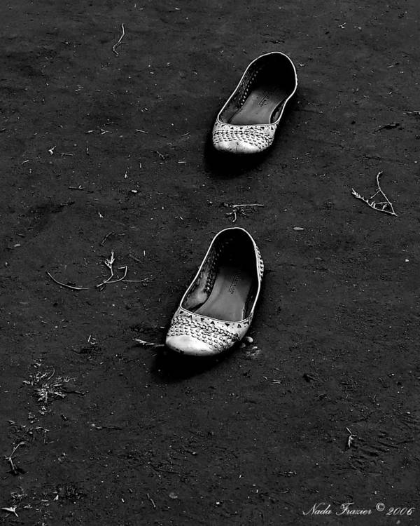 Shoes Art Print featuring the photograph Walk A Mile by Nada Frazier
