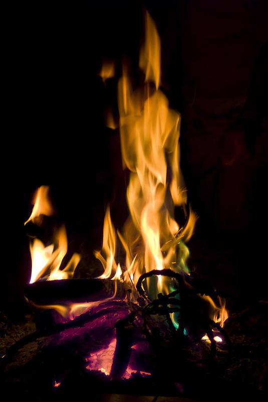 Fire Art Print featuring the photograph 060912-15  Fire Dance by Mike Davis