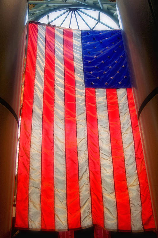 American Flag Art Print featuring the photograph American Flag by Joann Vitali