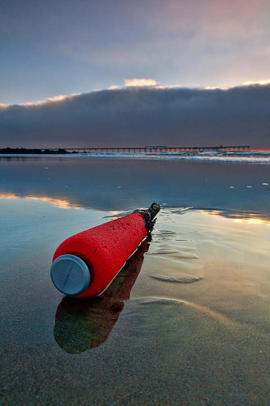 Beach Print featuring the photograph Batter-ed By The Sea by Peter Tellone