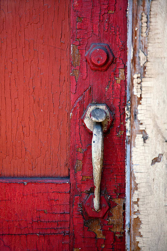 Architecture Art Print featuring the photograph Red Door by Peter Tellone