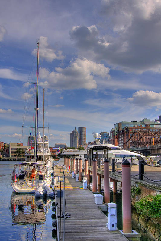 Boston Art Print featuring the photograph Sailboats In Constitution Marina - Boston by Joann Vitali
