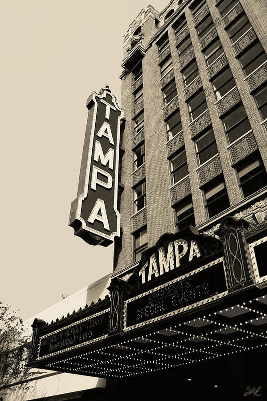 Tampa Art Print featuring the photograph Tampa Theatre by S Lee P