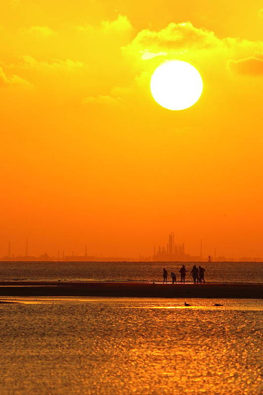 Texas City Art Print featuring the photograph Texas City Sunset 2am-12561 by Andrew McInnes