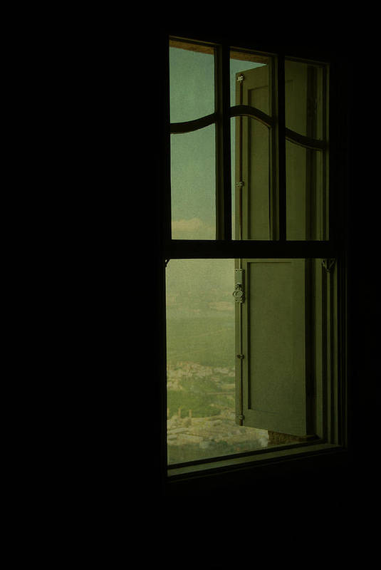 Illustration Art Print featuring the photograph A Window Out To The Sea by Valmir Ribeiro