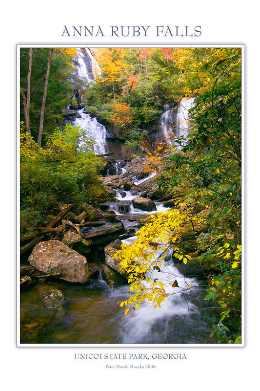 Landscape Art Print featuring the photograph Anna Ruby Falls by Peter Muzyka