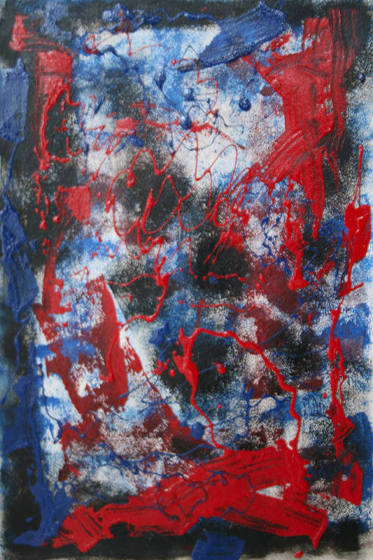 Abstract Print featuring the painting Chaos by Mordecai Colodner