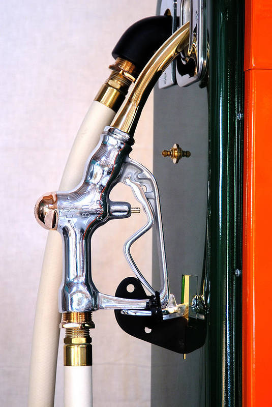 Antique Gas Pump Handle Art Print featuring the photograph Gas Pump Handle by David Campione