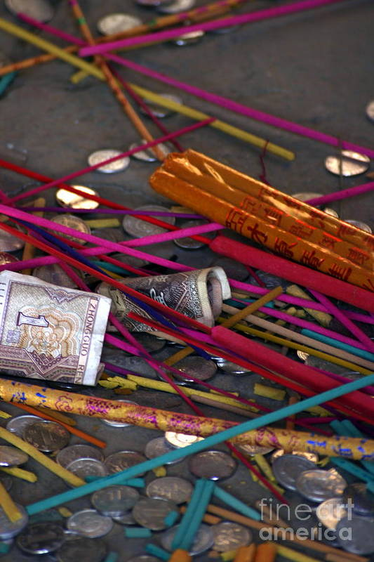 Incense Art Print featuring the photograph Incense And Alms by April Holgate
