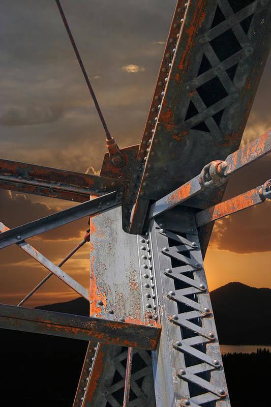 Bridge Art Print featuring the photograph Mountain Iron by Melvin Kearney