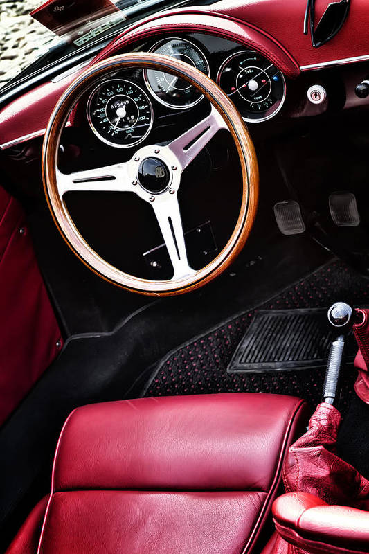 Porsche 356 Speedster 1600 Art Print Featuring The Photograph Interior By Georgia Fowler
