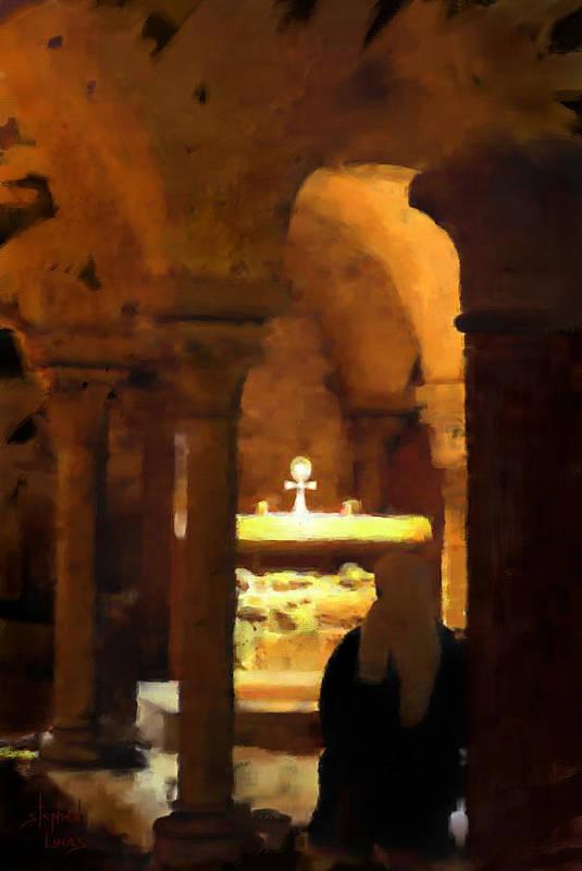 Prayer Art Print featuring the painting Quiet Prayers by Stephen Lucas