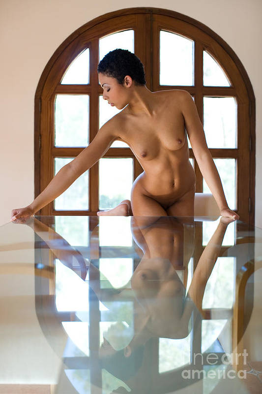 Sensual Art Print featuring the photograph Reflection Time Again by Olivier De Rycke