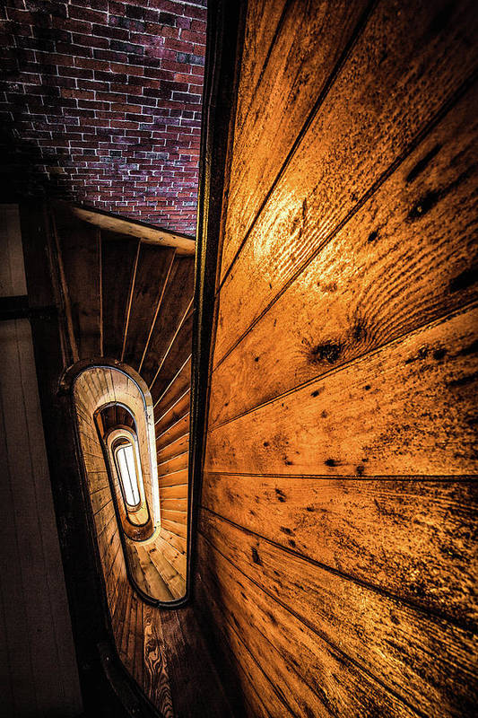 155 Dow Street Art Print featuring the photograph Spiral Stairwell by Robert Clifford
