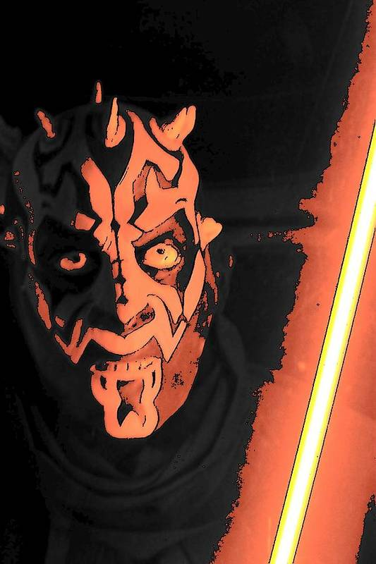 Darth Maul Art Print featuring the photograph The Dark Side by Mark Cheney