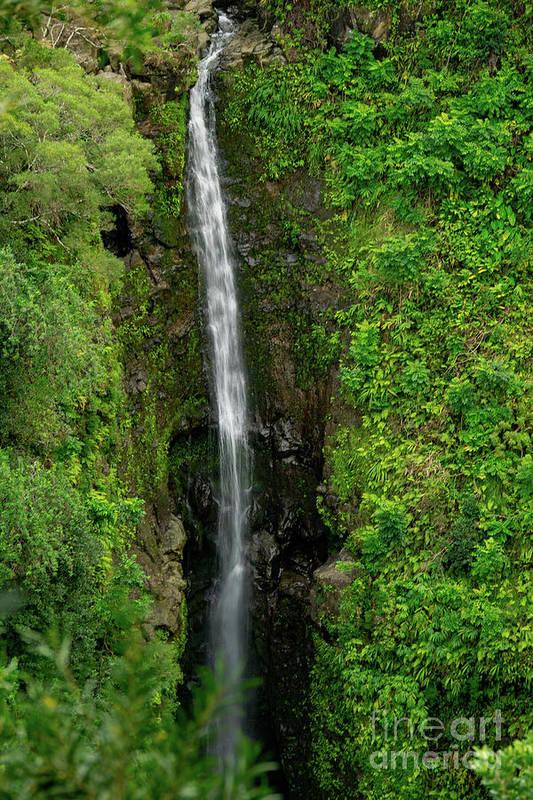 Maui Art Print featuring the photograph Twelve Falls by RJ Bridges