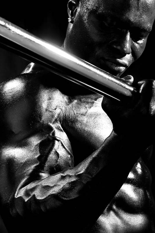 B&w Print featuring the photograph Vascularity by Val Black Russian Tourchin