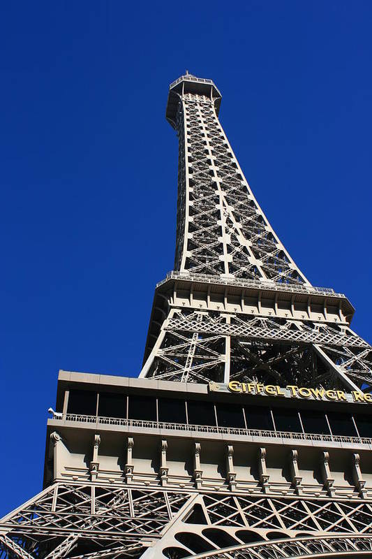 Eiffell Tower Art Print featuring the photograph Vegas Eiffell Tower by Christopher Larimore