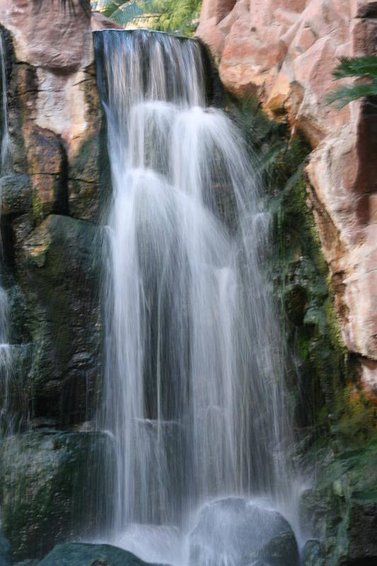 Waterfall Art Print featuring the photograph Vegas Waterfall by Christopher Larimore