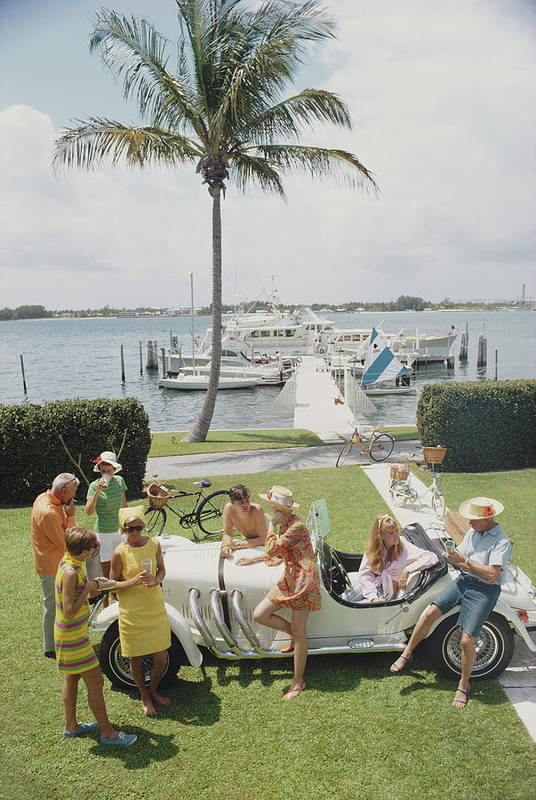 People Art Print featuring the photograph Palm Beach Society by Slim Aarons