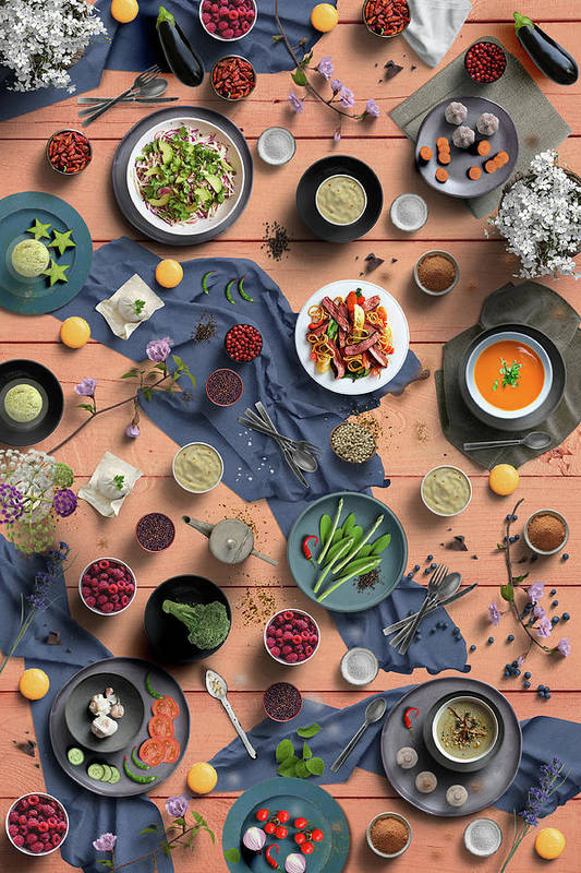Welcome To My Colorful Flowerful And Delicious Spring Dinner by Johanna Hurmerinta