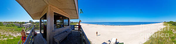 Panorama Art Print featuring the photograph Casey Key Life Guard Tower by Rolf Bertram